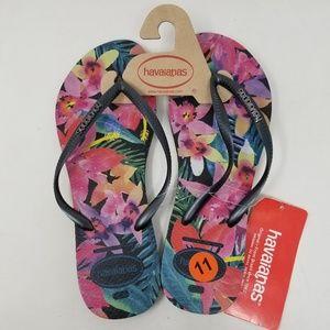 Havaianas Tropical Flip Flops Sandals Women's 11